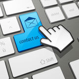 Contact us keyboard Royalty Free Stock Photo