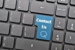 Contact us on keyboard Stock Image