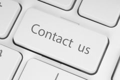 Contact us keyboard button Royalty Free Stock Photo