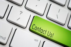 Contact Us. Keyboard - green key Contact Us Royalty Free Stock Image