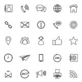 Contact us line icons on white background Stock Photography