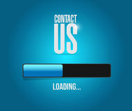 Contact us loading bar sign concept Stock Images