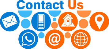 Contact us logo Royalty Free Stock Images