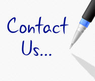 Contact Us Means Mail Internet And Message Royalty Free Stock Photo