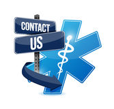 Contact us medical symbol illustration design Stock Images