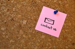 Contact us memo Royalty Free Stock Images