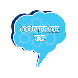 Contact us message bubble Royalty Free Stock Image