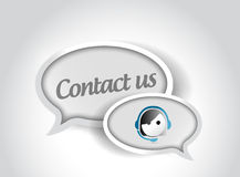 Contact us message communication concept Stock Photos