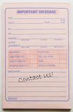 Contact Us message pad. Stock Photography