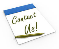 Contact Us! Notebook Means Customer Service Royalty Free Stock Images