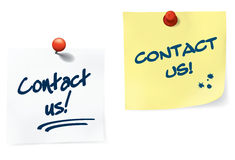 Contact Us Notes Set Stock Image