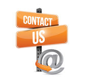 Contact us online sign concept illustration Royalty Free Stock Photos