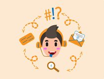 Contact Us or Operator Icon Children royalty free illustration