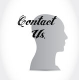 Contact us people sign concept Royalty Free Stock Image