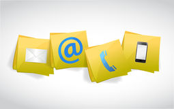 Contact us post illustration design Stock Images
