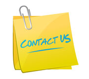 contact us post memo sign concept Stock Image