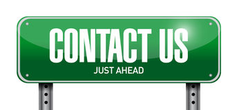 Contact us post sign concept Royalty Free Stock Photos