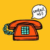 Contact Us Poster Royalty Free Stock Photo