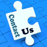 Contact Us Puzzle Shows Helpdesk Communication Stock Photography