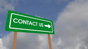 Contact us road sign stock video