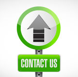 Contact us road sign concept illustration Royalty Free Stock Photos