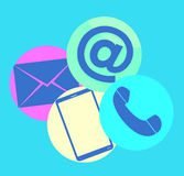 Contact Us Round Icons Royalty Free Stock Images