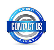 contact us seal illustration design Royalty Free Stock Photography
