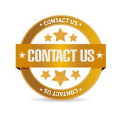 Contact us seal sign concept illustration Royalty Free Stock Photo