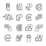 Contact Us Service Icons Stock Image