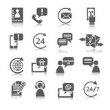 Contact Us Service Icons Stock Photo