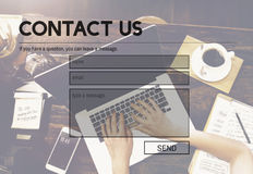 Contact Us Service Support Information Feedback Concept Stock Photos