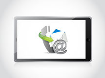 Contact us set tablet illustration design Stock Photo