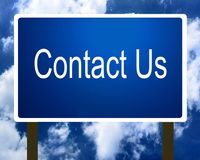 Contact Us Sign Stock Photography