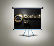 Contact us sign on banner Royalty Free Stock Images