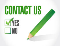 Contact us sign concept illustration Stock Photos