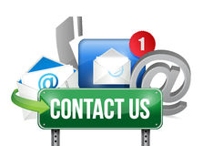 Contact us sign and concept illustration design Royalty Free Stock Photos