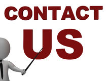 Contact Us Sign Meaning Helpdesk Stock Images