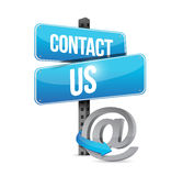Contact us sign and online symbol Stock Images