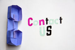 Contact us sign Royalty Free Stock Photo