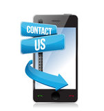 Contact us sign and phone Stock Photography