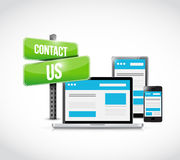 Contact us sign technology concept Royalty Free Stock Photo