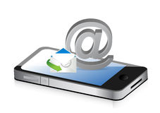 Contact us smartphone Royalty Free Stock Photo