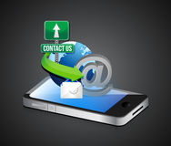 Contact us smartphone Royalty Free Stock Images