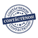 Contact us! - Spanish language Stock Image