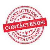 Contact us - Spanish language Royalty Free Stock Images