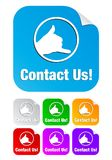 Contact us,square shape stickers Royalty Free Stock Photography
