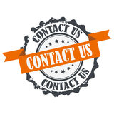 Contact us stamp Royalty Free Stock Image