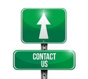 Contact us street sign concept illustration Royalty Free Stock Image