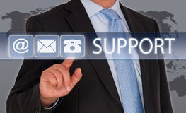 Contact us for support Stock Photo