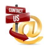 Contact us at symbol illustration design Royalty Free Stock Photo